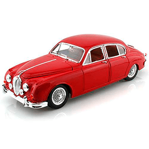 18-12009RED AUTO JAGUAR MARK II'59 ESCALA 1:18 DIECAST MINIATURA CASANOVA SCALE MACHINES