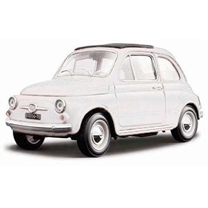 18-12020WHITE AUTO FIAT 500F'65 ESCALA 1:18 MINIATURA DIECAST CASANOVA SCALE MACHINES