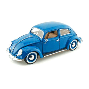 18-12029/BLUE AUTO VW BEETLE '55 ESCALA 1:18 MINIATURA DIECAST CASANOVA SCALE MACHINES