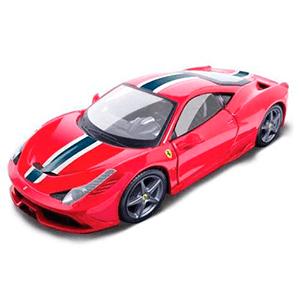 18-16002RED AUTO FERRARI 458 SPECIALE RACE &PLAY ESCALA 1:18 DIECAST MINIATURA BBURAGO CASANOVA SCALEMACHINES