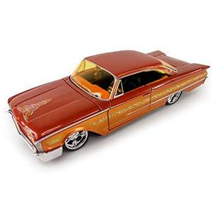 31038ORANGE FORD STARLINER '60 ALL STARS CUSTOM SHOP ESCALA 1:24 DIECAST MINIATURA CASANOVA SCALE MACHINES