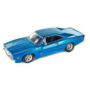 31256BLUE AUTO DODGE CHARGER '69 ESCALA 1:24 DIECAST MINIATURA CASANOVA SCALE MACHINES