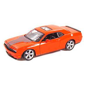 31280ORANGE AUTO DODGE CHALLENGER SRT-8 '08 ESCALA 1:24 DIECAST MINIATURA CASANOVA SCALE MACHINES