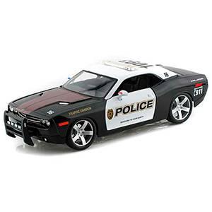 31365BLACK AUTO DODGE CHALLENGER POLICE ESCALA 1:18 MAISTO DIECAST MINIATURA CASANOVA SCALE MACHINES