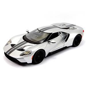 31384SILVER AUTO FORD GT '2017 ESCALA 1:18 MAISTO DIECAST MINIATURA CASANOVA SCALE MACHINES