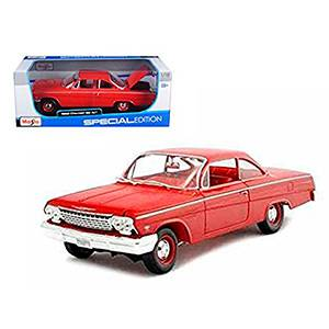 31641RED AUTO CHEVY BEL AIR '62 ESCALA 1:18 MAISTO DIECAST MINIATURA CASANOVA SCALE MACHINES