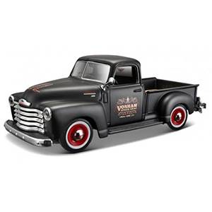 32506BLACK AUTO CHEVY 3100 PICK UP '51 OUTLAWS ESCALA 1:24 MAISTO DIECAST MINIATURA CASANOVA SCALE MACHINES