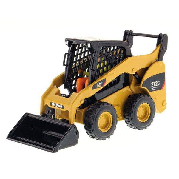 85167 ESCALA 1:32 – MINICARGADOR CAT 272C  CONSTRUCCION DIECAST MASTERS CASANOVA SCALE MACHINES