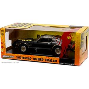 GL-12951BLACK AUTO PONTIAC FIREBIRD TRANS AM '79 - KILL BILL VOL 2 (2004) REPLICA DEL AUTO DE LA PELÍCULA KILL BILL VOL. 2 ESCALA 1:18 GREENLIGHT DIECAST MINIATURA CASANOVA SCALE MACHINES