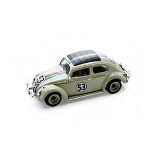 "HW-BCK07WHITE AUTO VOLKSWAGEN ELITE HERBIE ""THE LOVE BUG"" '62 ESCALA 1:43 HOT WHEELS DIECAST MINIATURA CASANOVA SCALE MACHINES"