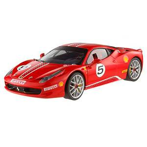 HW-X5486RED AUTO FERRARI ELITE 458 CHALLENGE #5 ESCALA 1:18 HOT WHEELS DIECAST MINIATURA CASANOVA SCALE MACHINES