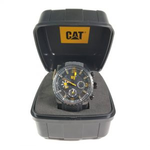 RELOJ CAT - BLACK & YELLOW DIAL / BLACK SILICONE STRAP