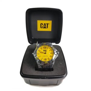 RELOJ CAT - YELLOW DIAL / BLACK SILICONE STRAP