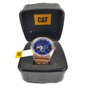 RELOJ CAT - BLACK & ROSE GOLD DIAL / BROWN LEATHER