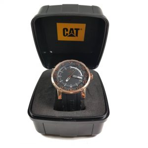 RELOJ CAT - BLACK & ROSE GOLD DIAL / BLACK SILICONE STRAP