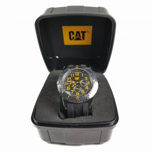 RELOJ CAT - BLACK & YELLOW DIAL / BLACK RUBBER STRAP