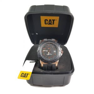 RELOJ CAT - BLACK & ROSE GOLD DIAL / BLACK RUBBER STRAP