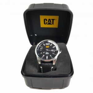 RELOJ CAT - BLACK DIAL / BLACK LEATHER STRAP
